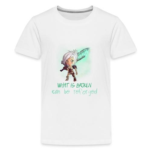 Chibi Riven con scritta DONNA - Maglietta Premium per ragazzi