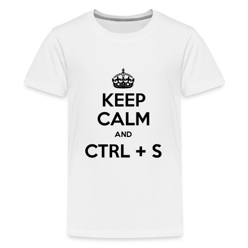 Keep Calm and CTRL+S - T-shirt Premium Ado