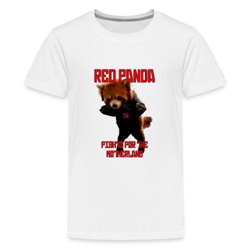 Red Panda Fights For The Motherland - Teenage Premium T-Shirt