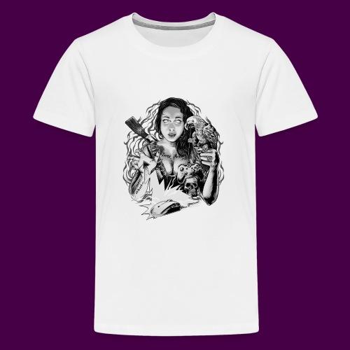 black and white - Teenage Premium T-Shirt