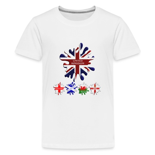 United Kingdom Flags - Teenage Premium T-Shirt