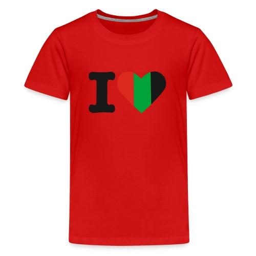 hartjeroodzwartgroen - Teenager Premium T-shirt