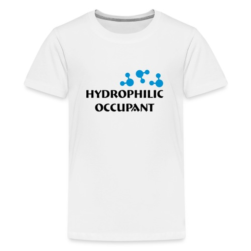 Hydrophilic Occupant (2 colour vector graphic) - Teenage Premium T-Shirt