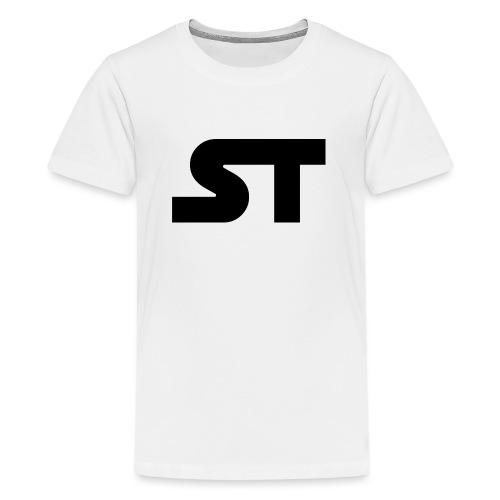 ST SIMPLE BLACK png - Teenager Premium T-Shirt