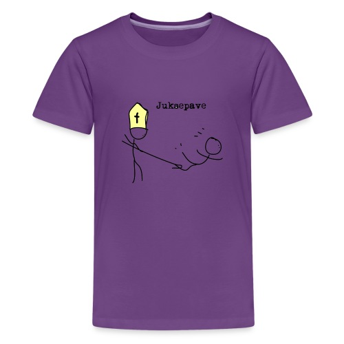 juksepave png - Premium T-skjorte for tenåringer