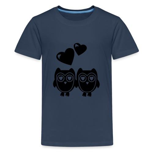 verliebte Eulen - Teenager Premium T-Shirt