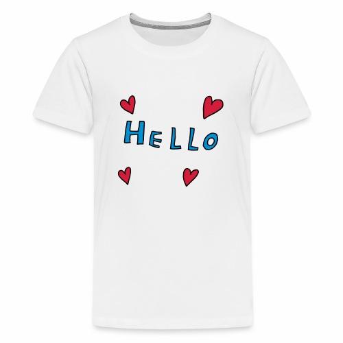 hello - Teenage Premium T-Shirt