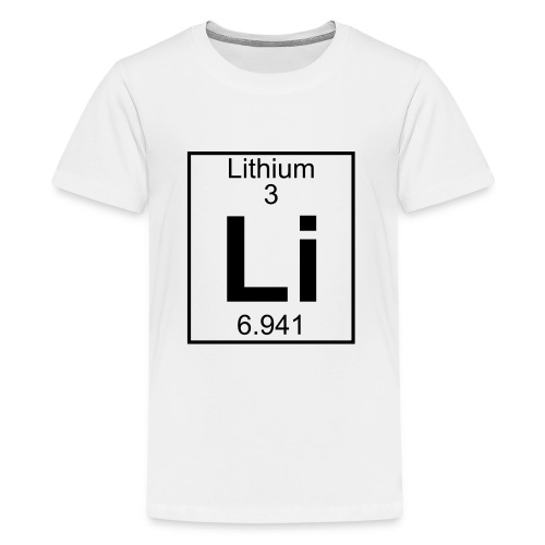 Lithium (Li) (element 3) - Teenage Premium T-Shirt