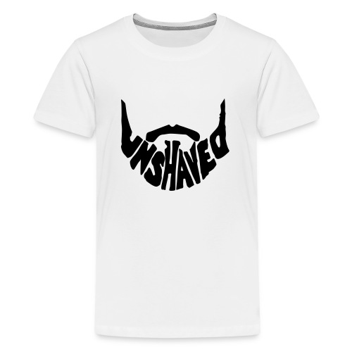 unshaved_logo - Teenager Premium T-Shirt