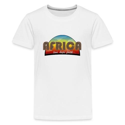 Africa_love_hope_and_faith2 - Maglietta Premium per ragazzi