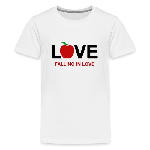 Falling in Love - Black - Teenage Premium T-Shirt