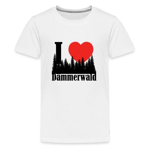 I LOVE DÄMMERWALD - Teenager Premium T-Shirt