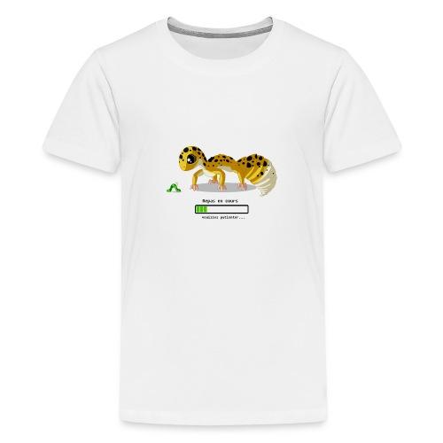 Gecko feeding time - T-shirt Premium Ado