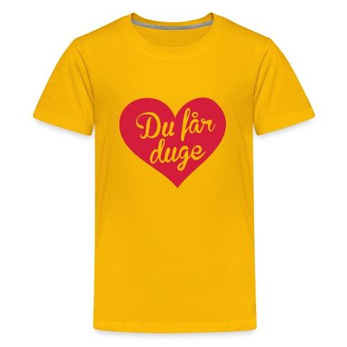 Ekte kjærlighet - Det norske plagg - Premium T-skjorte for tenåringer