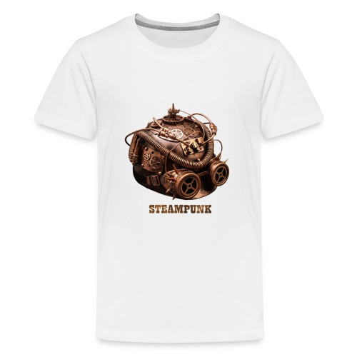 Steampunk Helm Retro Futurismus Gotik - Teenager Premium T-Shirt