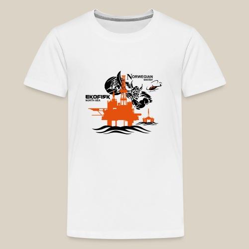 Ekofisk Oil Rig Platform North Sea Norway - Teenage Premium T-Shirt