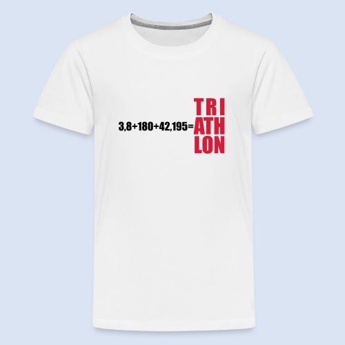 Triathlon Swim Bike Run - Teenager Premium T-Shirt