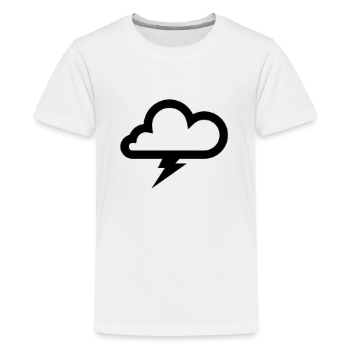 Wolke mit Blitz - Teenager Premium T-Shirt
