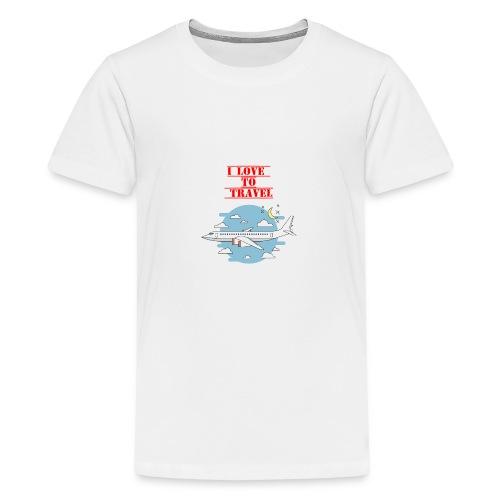 I Love To Travel - Maglietta Premium per ragazzi