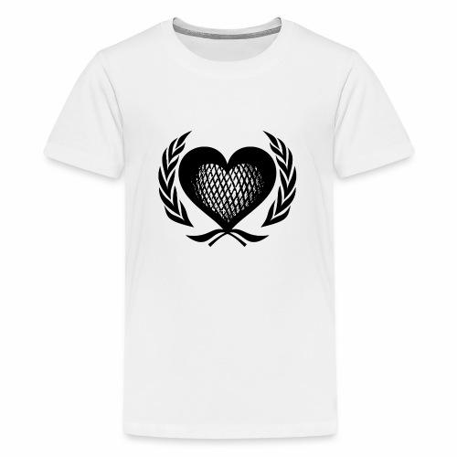 Herz Kranz Gitter Netz Logo Emblem Geschenkidee - Teenager Premium T-Shirt