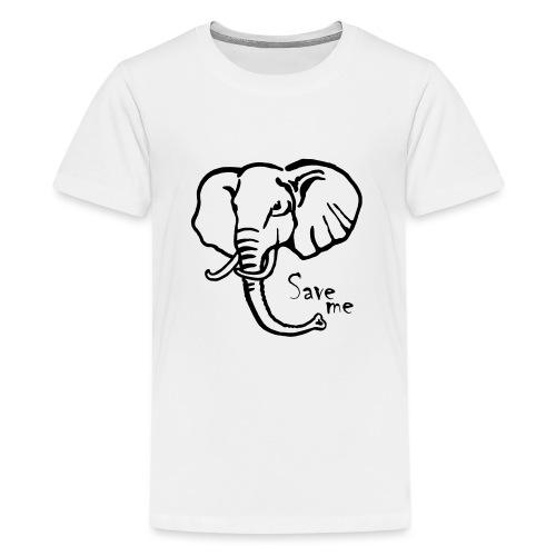 Afrika-Elefant I Save me - Teenager Premium T-Shirt