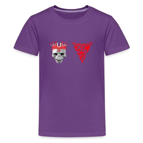 skull krone humungus3 png - Teenager Premium T-Shirt