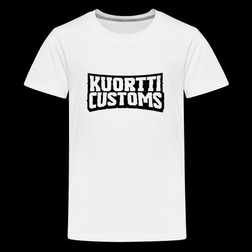 kuortti_customs_logo_main - Teinien premium t-paita