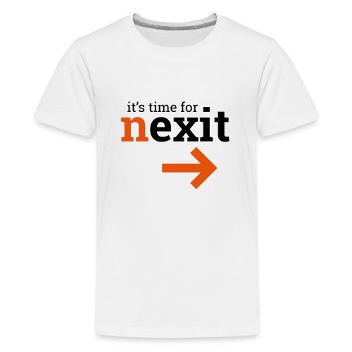 its time for nexit logo in zwart oranje - Teenager Premium T-shirt