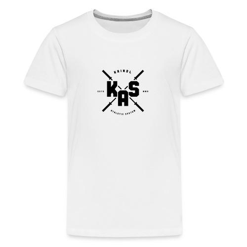 K.A.S. Logo black - Teenager Premium T-Shirt