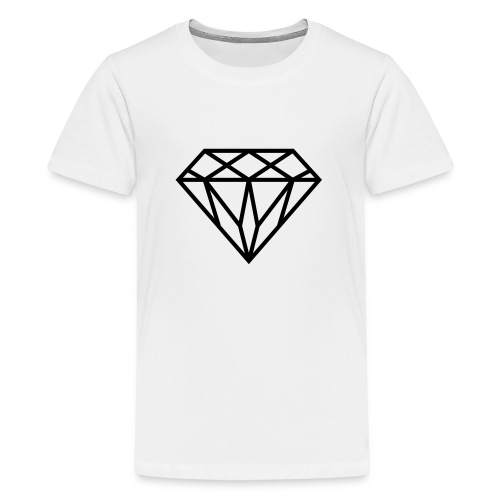 Diamond Graphic // Diamant Grafik - Teenager Premium T-Shirt