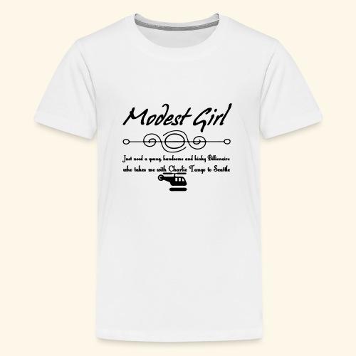 Modest Girl Shirts - Teenage Premium T-Shirt