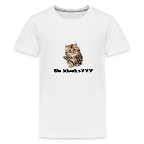 No block kitten - Premium T-skjorte for tenåringer