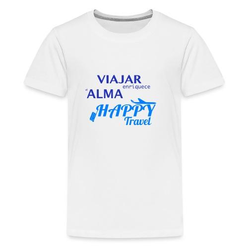 VIAJAR ENRIQUECE EL ALMA - Camiseta premium adolescente