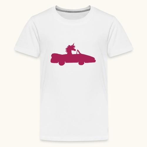 Cadeau de permis de conduire drôle de voiture de la Licorne convertible - T-shirt Premium Ado