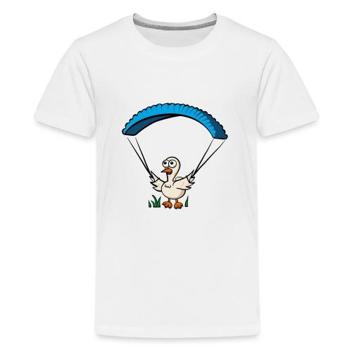 Groundhendl Groundhandling Hendl Paragliding Huhn - Teenager Premium T-Shirt