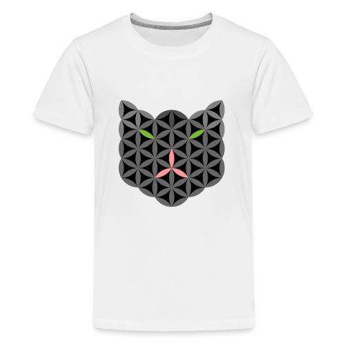 The Cat Of Life - Sacred Animals, B01, Dark. - Teenage Premium T-Shirt
