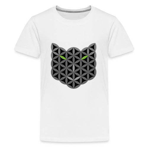 The Cat Of Life - Sacred Animals,B03, Grey smile - Teenage Premium T-Shirt