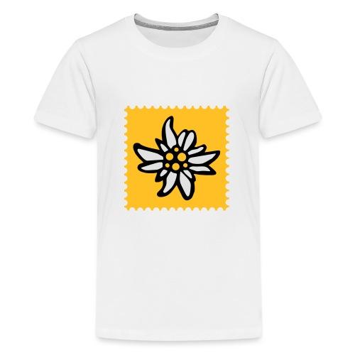Briefmarke Edelweiss - Teenager Premium T-Shirt