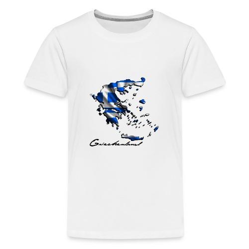 Landkarte-Griechenland - Teenager Premium T-Shirt