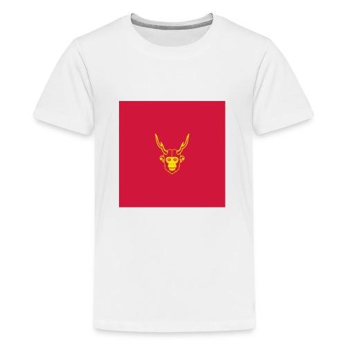 scimmiacervo sfondo rosso - Maglietta Premium per ragazzi