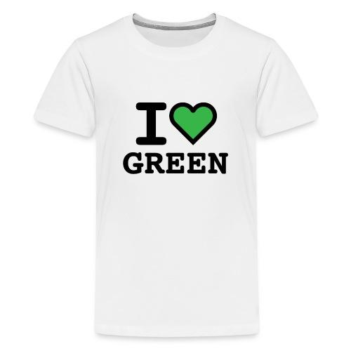 i-love-green-2.png - Maglietta Premium per ragazzi