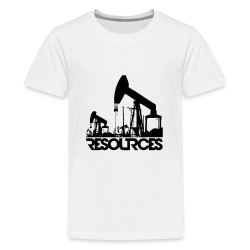 App Icon randlos schwarz - Teenager Premium T-Shirt