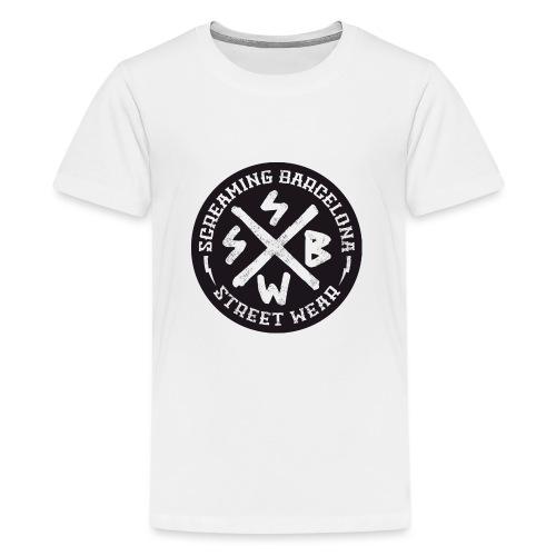 BASIC LOGO SWEATSHIRT BLACK - Camiseta premium adolescente
