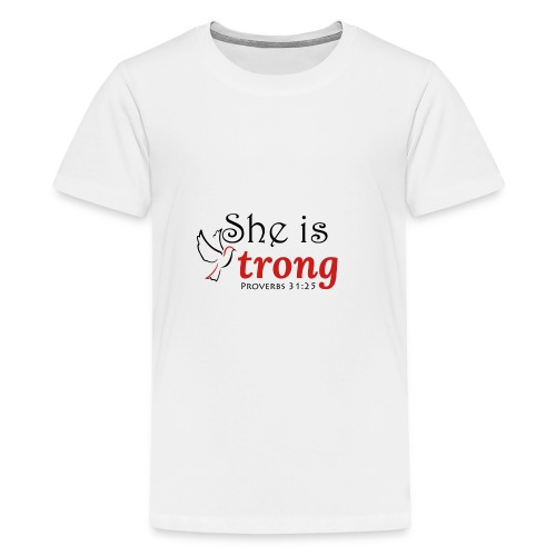 she is strong - Teenage Premium T-Shirt