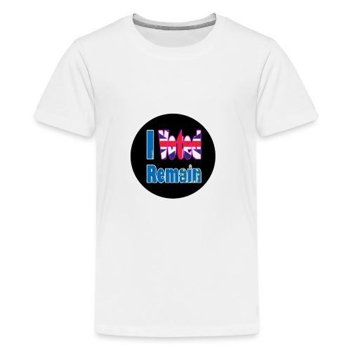 I Voted Remain badge EU Brexit referendum - Teenage Premium T-Shirt