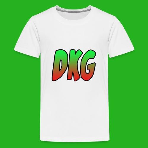 Red and black DKG Snapback - Teenager Premium T-shirt