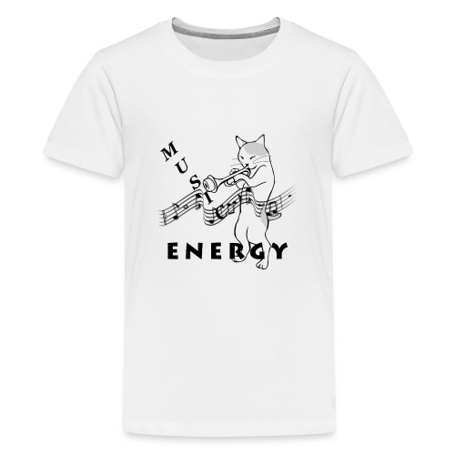Music-Is-Energy - Teenage Premium T-Shirt