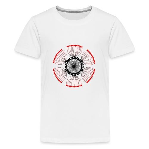 Red Poppy Seeds Mandala - Teenage Premium T-Shirt