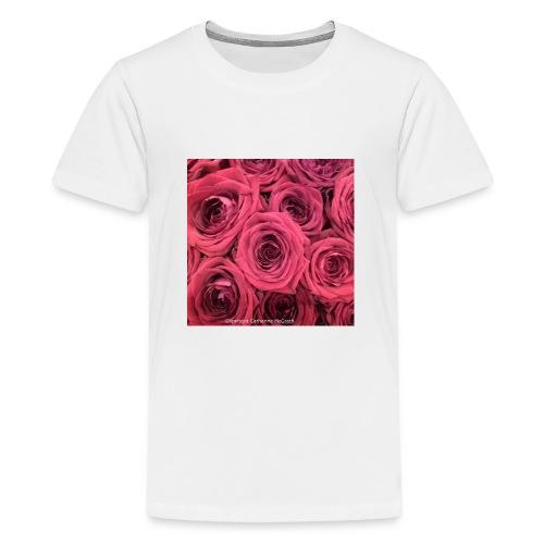 Red roses - Teenage Premium T-Shirt