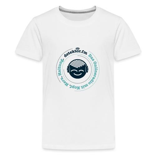 Radio mit KopfHerzHaltung - Teenager Premium T-Shirt